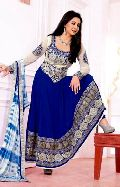 Blue Off White Party Wear Attractive Anarkali Salwar Suits