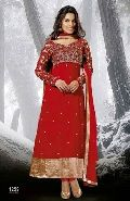Brick Red Designer Ethnic Look Long Anarkali Suit