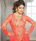 Bright Red Colour Traditional Anarkali Salwar Kameez