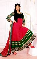 Canada Red Green Party Wear Anarkali Salwar Suits
