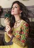 Dafodil Colour Ethnic Designer Party Wear Long Anarkali Salwar Kameez