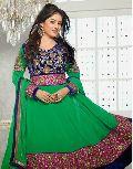 Green Blue Colour Traditional Anarkali Salwar Kameez