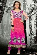 Magenta Crimson Shaded Designer Ethnic Look Long Salwar Suit