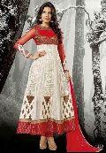 Red Designer Ethnic Look Long Churidar Suit
