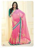 Stunning look wedding designer attractive Indian embroidered saree