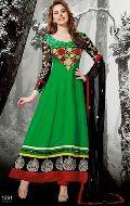White Designer Anarkali Suit, Red Designer Anarkali Suit