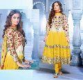 Yellow Colour Designer Party Wear Anarkali Salwar Kameez