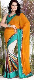 Half Georgette Khadi Silk