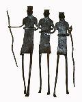 3 Dancing Tribal Iron Handicraft