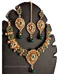 Polki Necklace Set with Earrings