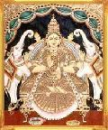 Lakshmi Mata Tanjore Painting