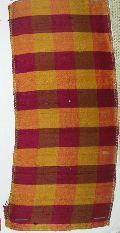 Burgundy Gold Plaid Fabric
