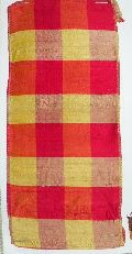 Red Gold Plaid Fabric