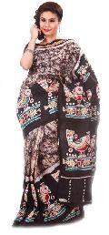 Batik Printed Silk Saree