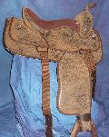 WESTERN SADDLE SYNTHETIC BROWN.