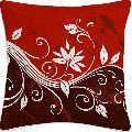Red Abstract Flower Cushion
