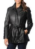 Womens Leather Blazer