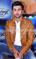 Star Ranbir Kapoor Brown Lamb Leather Jacket Blazer