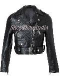 Custom Made Women Black Leather Jacket