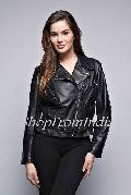 Custom Made Women Lamb Black Leather Jacket
