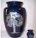 Mother Of Pearl Tree of Life Brass Cremation Urn
