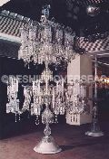 Crystal Pedestal Lamp
