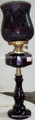 Glass oil lamp
