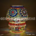 vintage mosaic table lamp