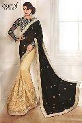 Elegant net designer saree