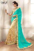 Stylish net designer saree