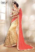 Trendy net designer saree