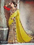 Yellow bridal saree
