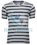 Mens Striped Round Neck T-Shirts