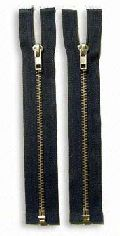 Nickel Brass Zipper