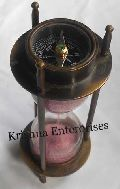Antique Sand Timer with Compass