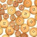 Imitation Wood Buttons